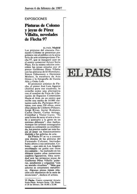 Carlos Arriaga el País 1997