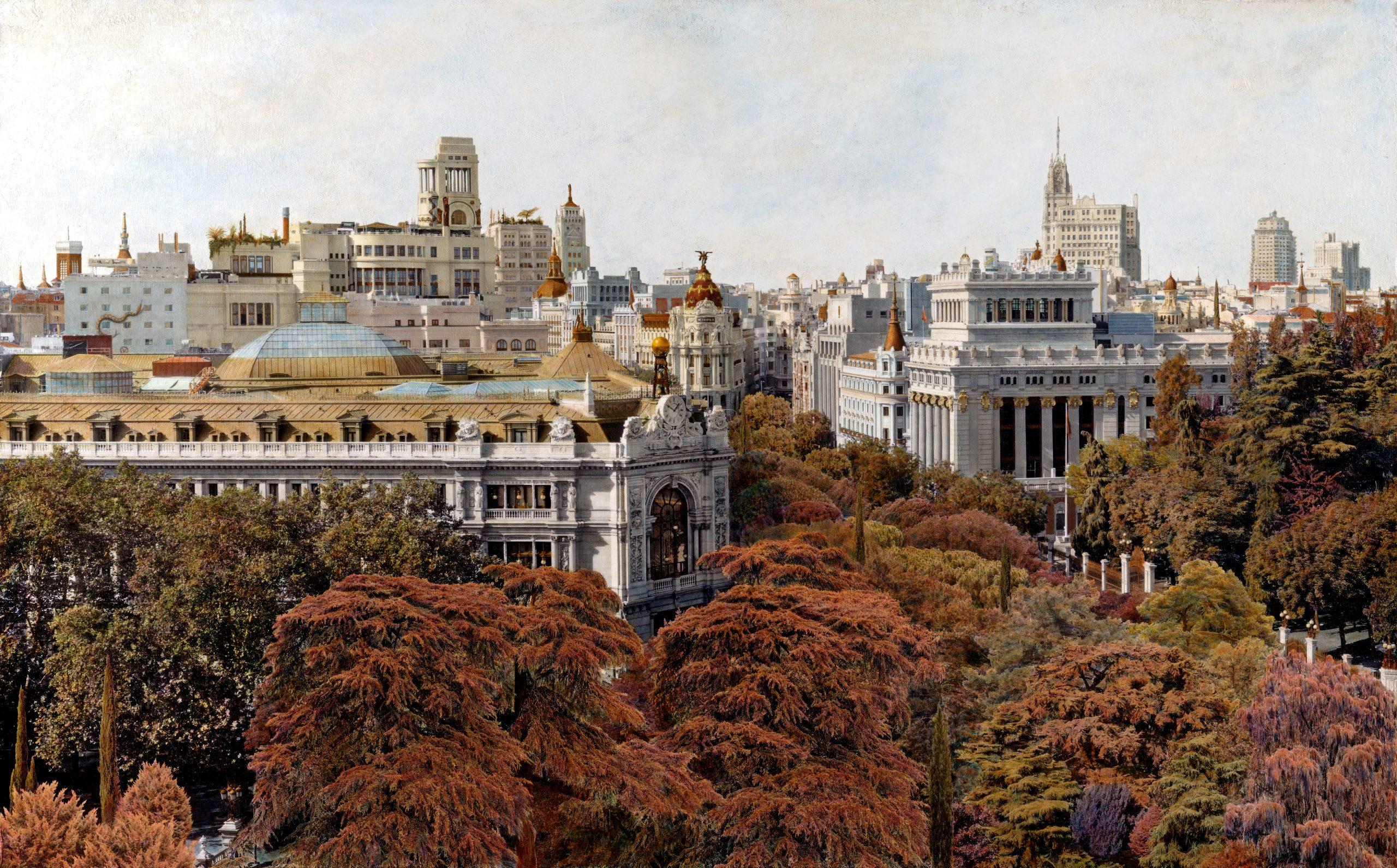 Madrid Emboscado lleno de árboles