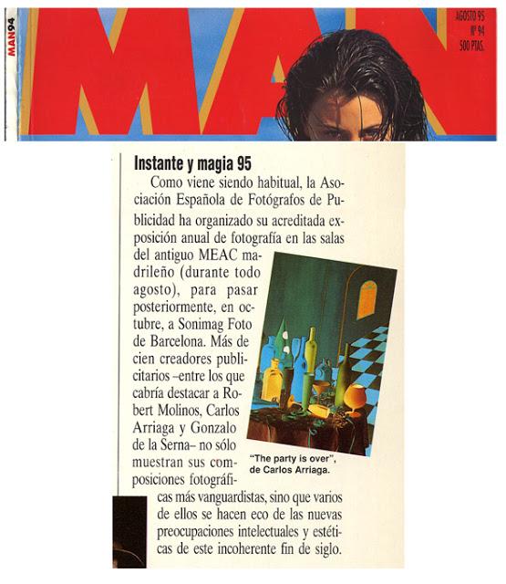 Carlos Arriaga en revista Man 1995