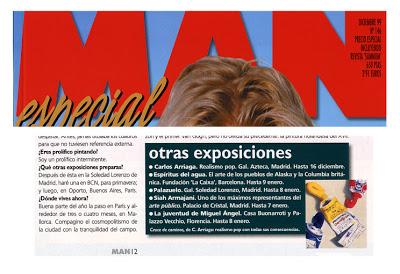 Carlos Arriaga en revista man 1999
