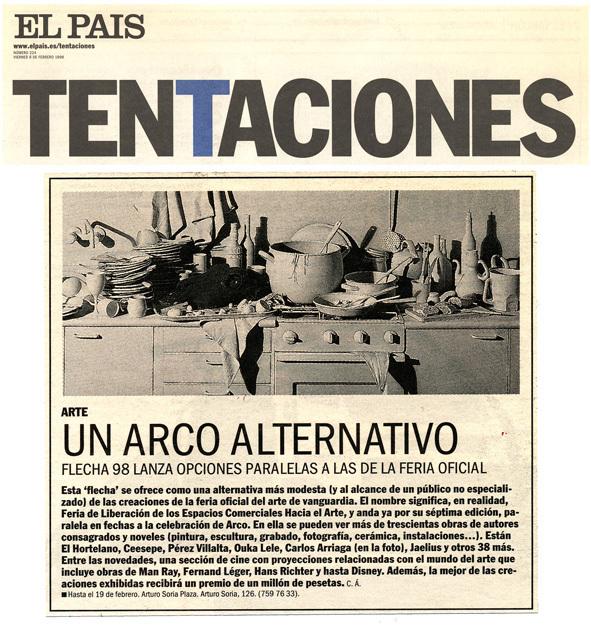 Carlos Arriaga el País. Tentaciones. 2000
